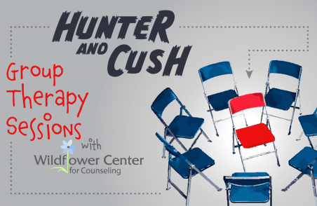 Hunter-&-Cush-Blog-GROUP-THERAPY-Graphic-for-Feature-Image-w-WILDFLOWER-LOGO